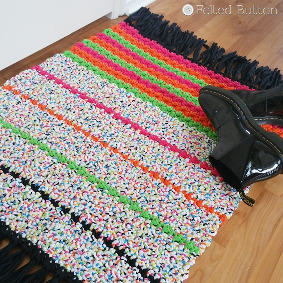 All Sorts Rug Free Crochet Pattern by Felted Button