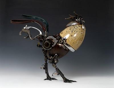 gallo escultura