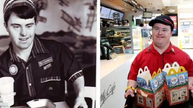 Homem com síndrome de down se aposenta após 32 anos no McDonald's