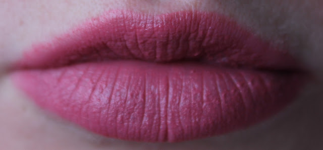 Voorbeeld van lipstick op mijn lippen