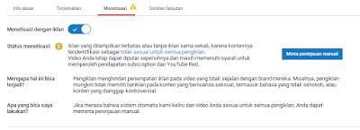 mengatasi monetisasi berubah, logo dollar youtube berubah kuning