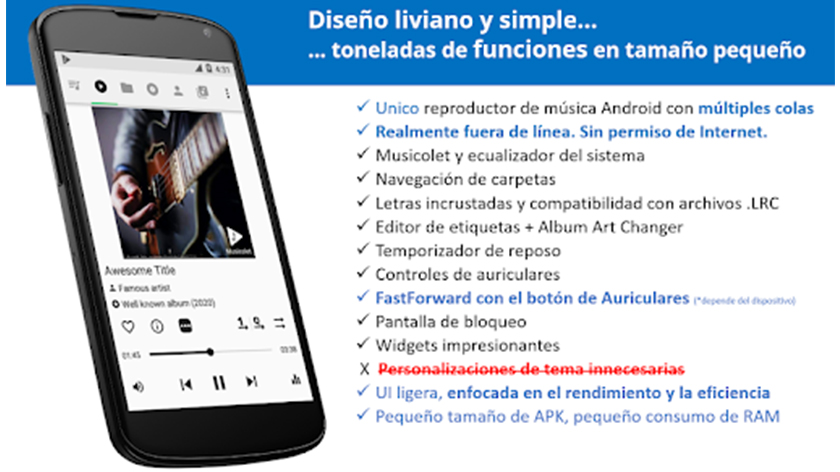 reproductor musicolet music player