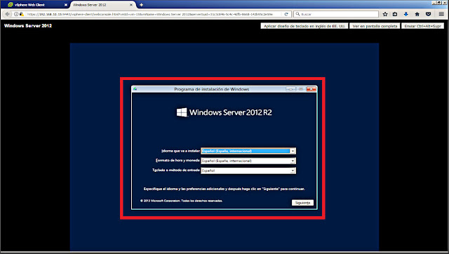 Comenzará la instalación del sistema operativo.