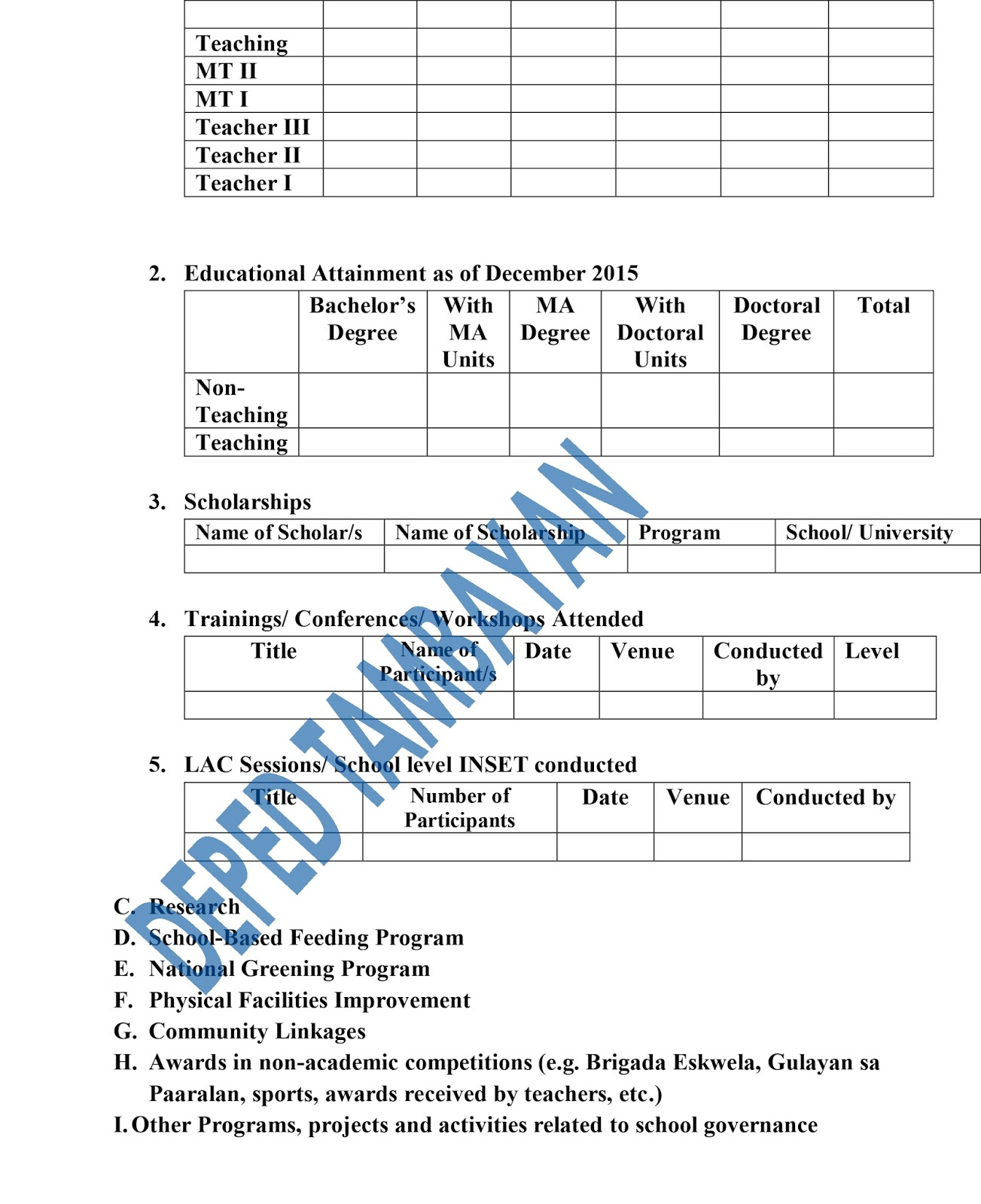 work and financial plan deped template sample customer service work and financial plan deped template issuances deped antipolo plan annual communication plan home health templates