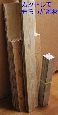 自作スピーカのためにホームセンターで木材板をカットしてもらう