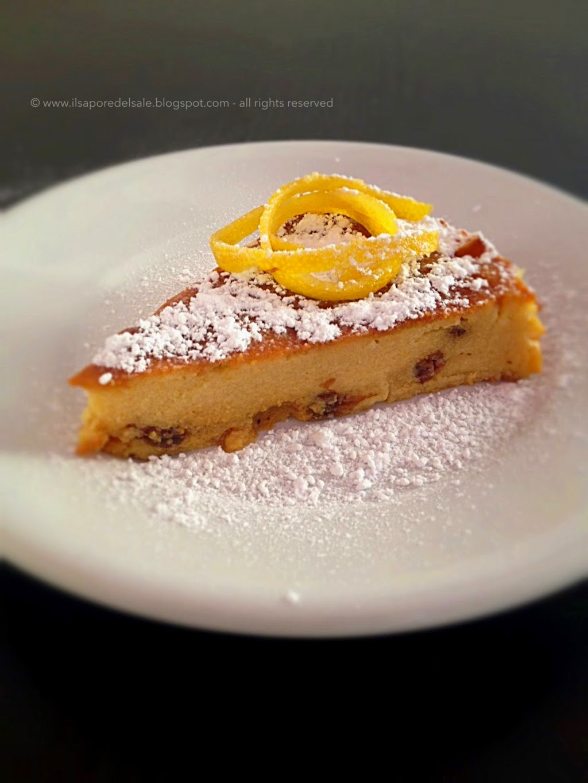 torta di semolino ed uvetta