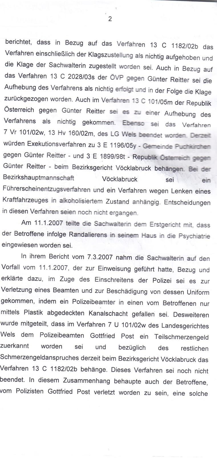 Rechtsmissbrauch Im Amt Zum Vorfall 12 1 2007 Gerichtsprotokoll