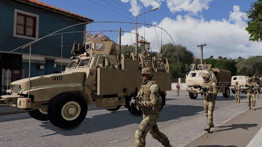 Arma3用現代軍MODのCaiman MRAP