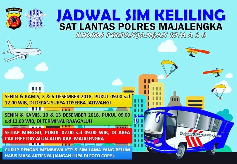 Jadwal SIM Keliling Majalengka - IGsatlantasmjlk