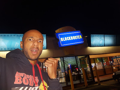 Tim surprised to see a Blockbuster Video