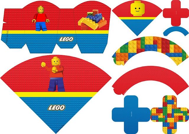 Fiesta de Lego: Imprimibles para Fiestas y Cajas para Imprimir Gratis.