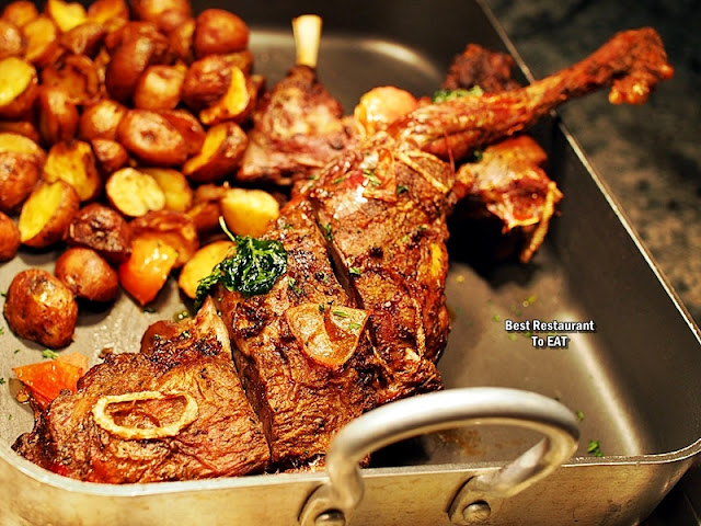 Feast Buffet Western Menu  - Roast Lamb Leg