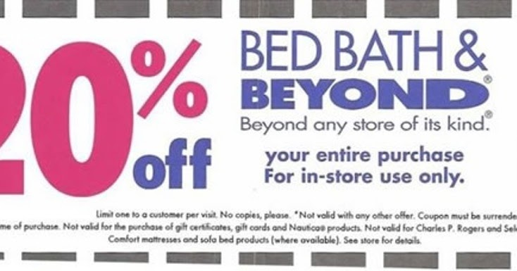 Bed and bath coupon in store