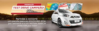 Promoção Test Drive Nissan