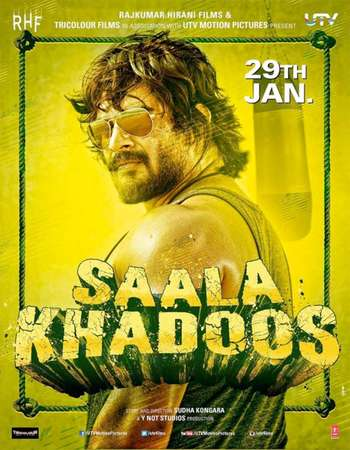 Poster Of Saala Khadoos 2016 Hindi 720p pDVDRip x264 Watch Online Free Download Worldfree4u