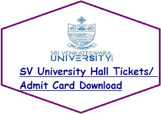SVU Degree Hall Tickets 2020