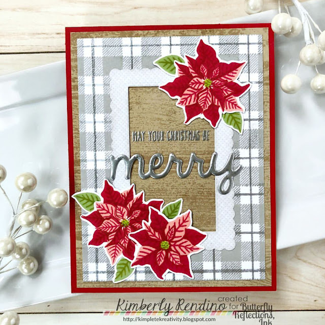 Sunny Studio Stamps: Petite Poinsettias Customer Card Share by Kimberly Rendino