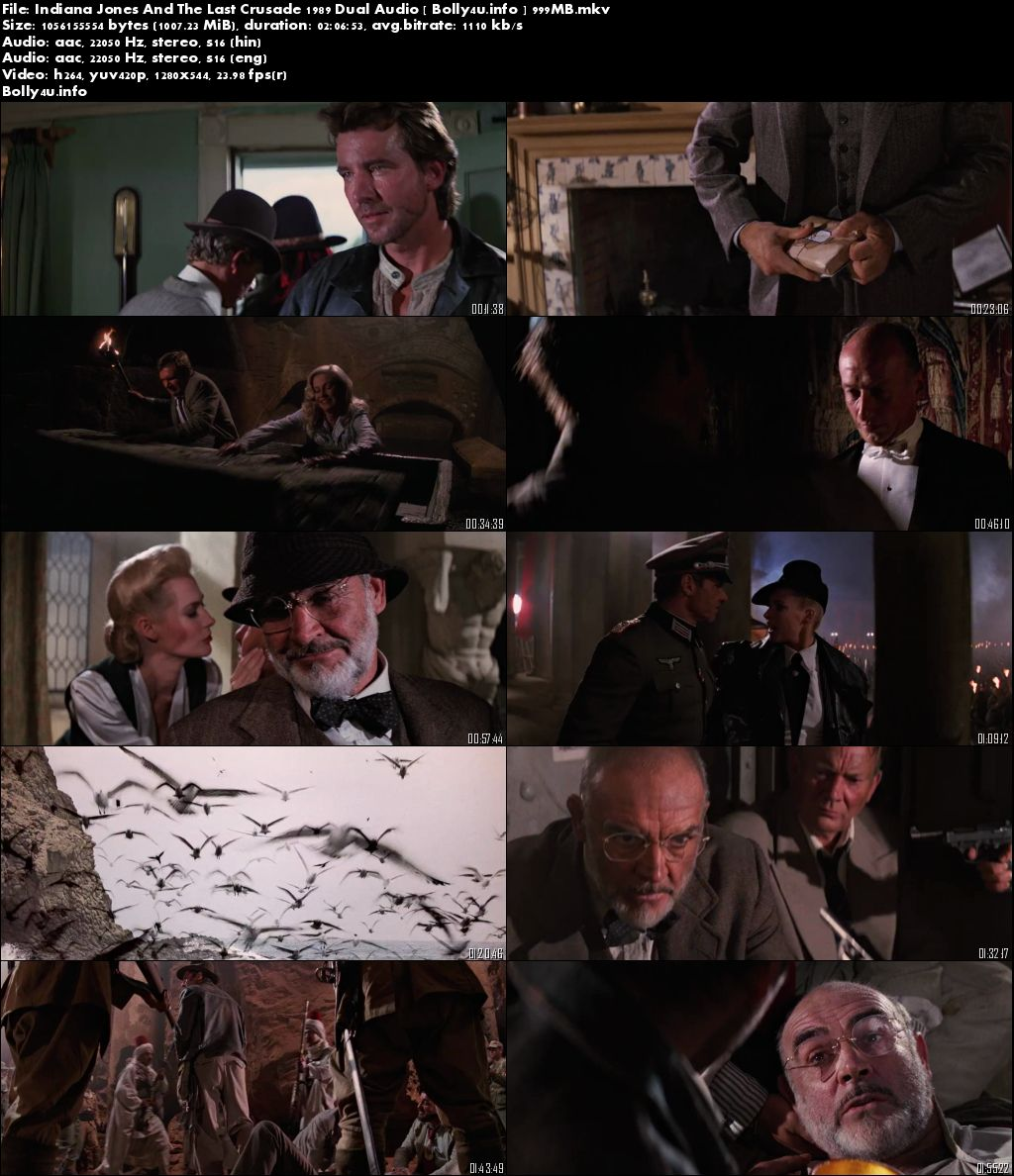 Indiana Jones And The Last Crusade 1989 BRRip 400Mb Dual Audio 480p Download