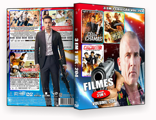 FILMES 3 Em 1 Coleção Vol.204 – ISO