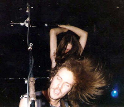 The Badlands Band's Rich Verge and Rich Gulya during the jam at the end of Freebird. 1981ish
