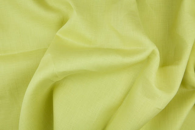 Lime Handkerchief Linen Fabric