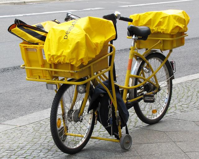 Delivery bike, Deutsche Post, Rudi-Dutschke-Straße, Berlin