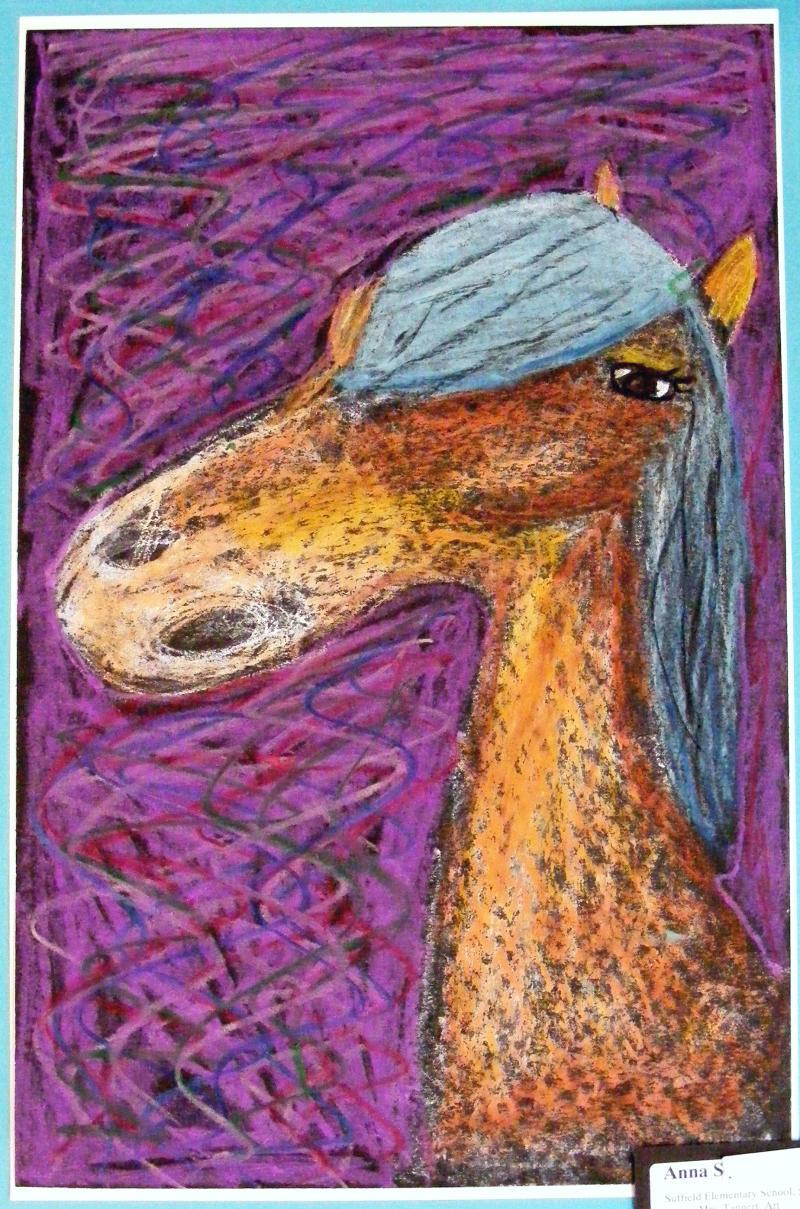 Suffield Elementary Art Blog Oil Pastel Horses