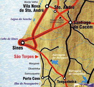 porto covo mapa Sabores e Tentações: Porto Côvo porto covo mapa