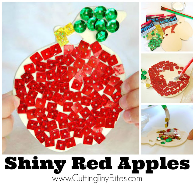 Easy apple craft for kids. Perfect for fall with simple and inexpensive materials. Great activity for preschoolers or elementary.