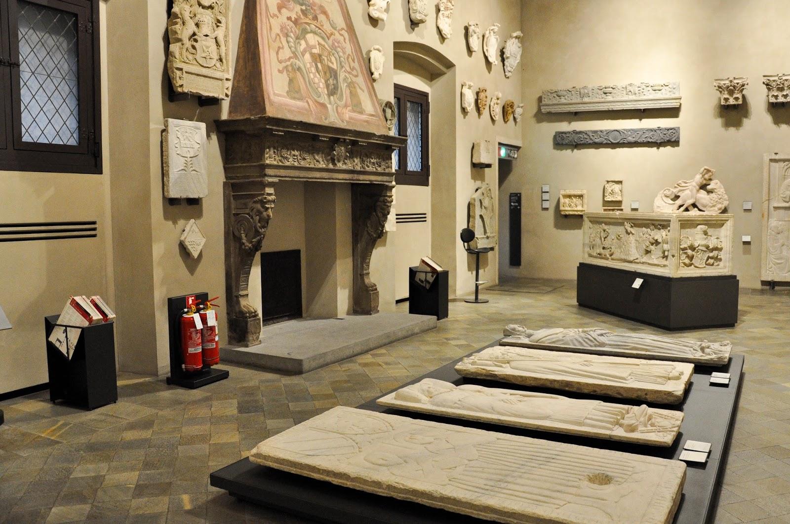 Funeral stelas, Antique Art Museum, Palazzo Madama, Turin, Italy