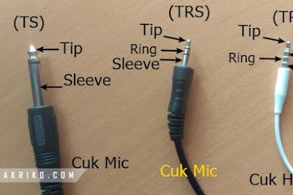 Apa itu TS, TRS dan TRRS pada Microphone?