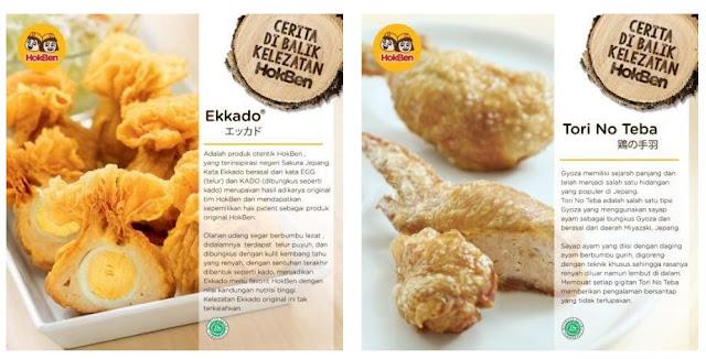 Ekkado dan Tori No Teba , makanan unggulan Hokben yang lezat.