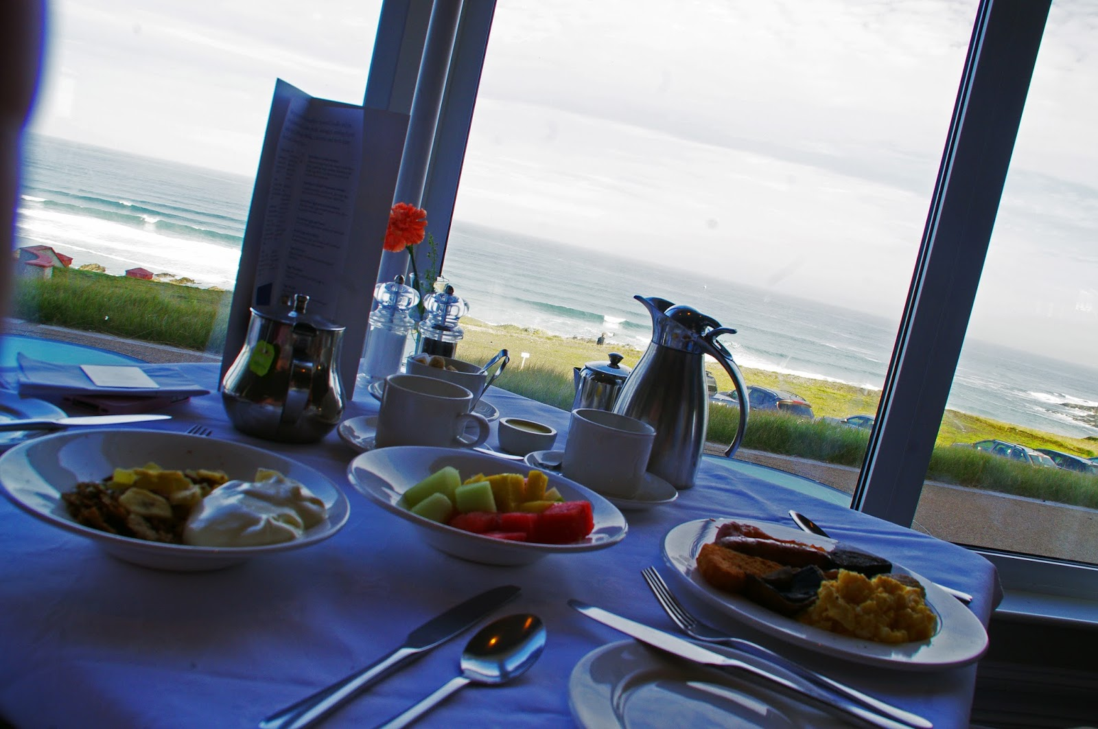 Headland Hotel Newquay Cornwall Restaurant Breakfast View