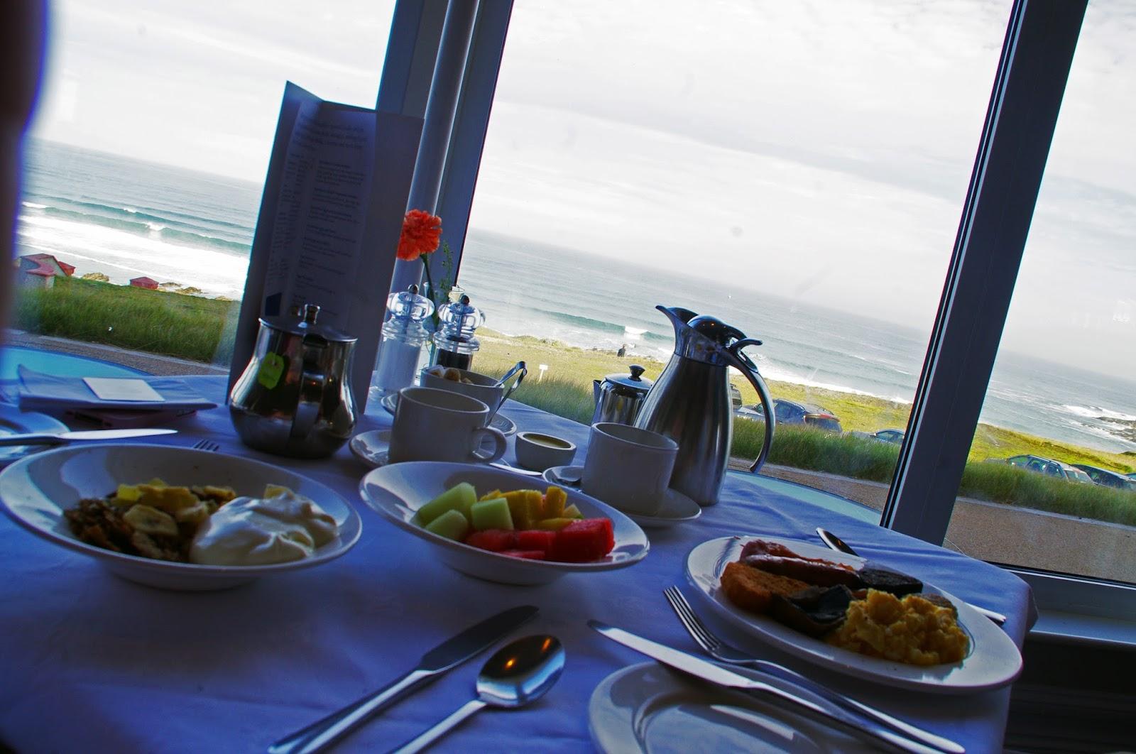 Headland Hotel Newquay Cornwall Restaurant Breakfast View