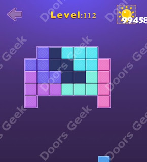 Cheats, Solutions, Walkthrough for Move Blocks Easy Level 112