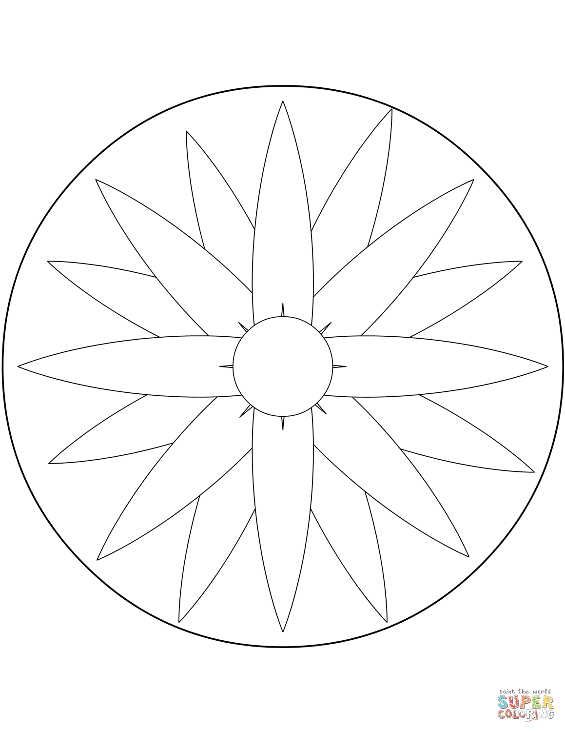 Top Easy Flower Mandala Designs Coloring Pages Drawing