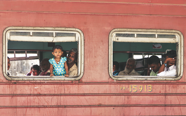 Sri Lanka Locals on Train