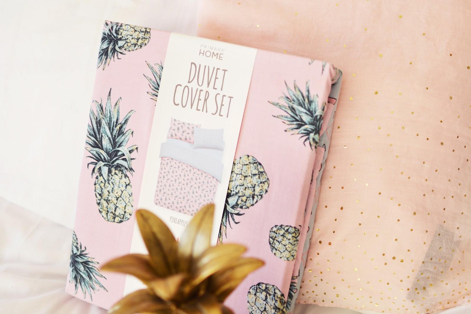 pineapple print duvet cover set