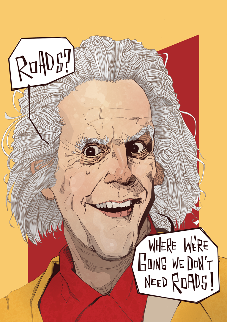Doc Brown Poster Christopher Lloyd Back to the Future