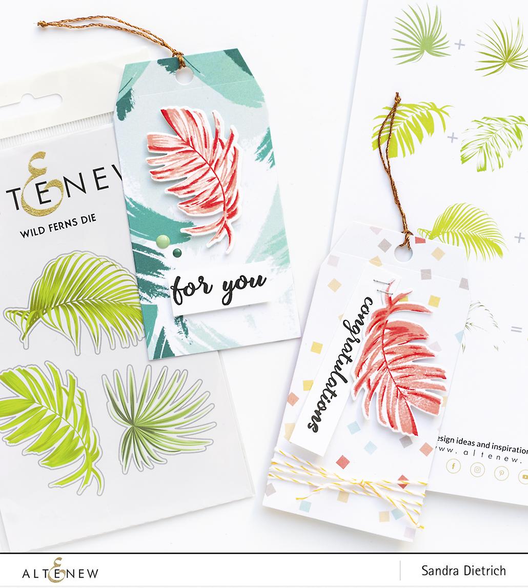 Altenew Stamp Focus Wild Ferns Gift Tags Sneak