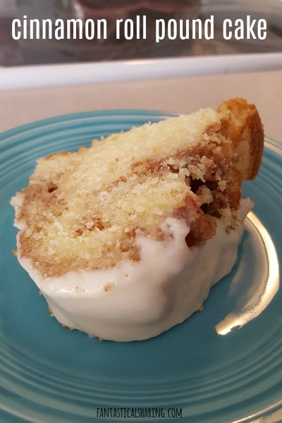 Cinnamon Roll Pound Cake #recipe #dessert #cake #cinnamon