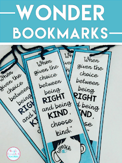 wonder bookmarks freebie