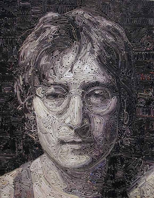 mosaic from old magazine by Vasiliy Kolesnik