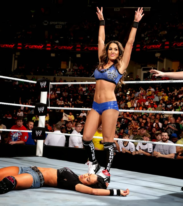 AJ Lee and Tamina Snuka vs. the Bella Twins on Monday Night Raw