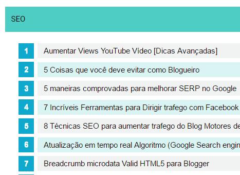 Novo modelo Sitemap para Blogger