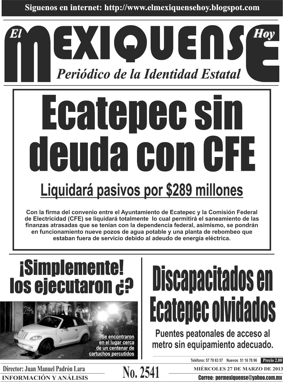 El mexiquense Hoy: 03/01/2013 - 04/01/2013