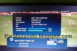 Frekuensi SONY ESPN SD terbaru di Intelsat 20 68.5°E
