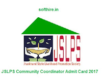 JSLPS Community Coordinator Admit Card