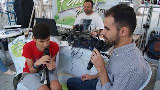 ο 13χρονος Κωνσταντίνος Τσαγκατάκης με τον Βαγγέλη Αυγουλά