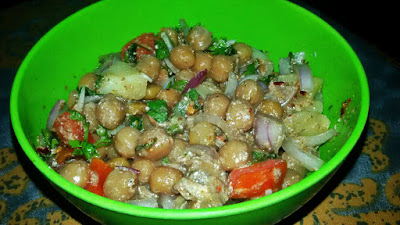 Healthy Chickpea salad recipe, Simple Garbanzo Salad, Aloo Chaat Recipe